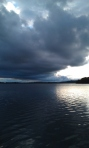 Storm brewing over an Irish Lake